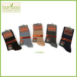 12 Stk Bamboo Herren Socken Weiche Bambus Socken ANTITRANSPIRANT gegen Schwitzen