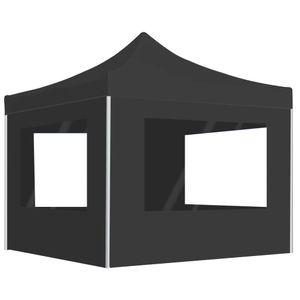 vidaXL Profi-Partyzelt Faltbar mit Wänden Aluminium 3×3m Anthrazit