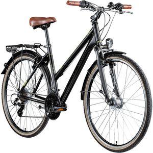 Zündapp T700 700c Trekkingrad Damen Fahrrad Trekking 28 Zoll Trekkingfahrrad StVZO, Farbe:schwarz, Rahmengröße:50 cm