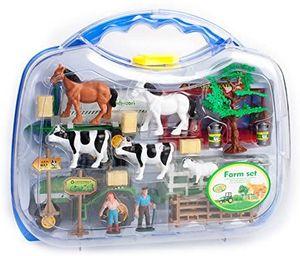 Spielzeug Farmset Bauernhof im Koffer