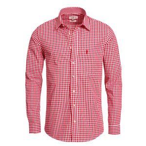 Trachtenhemd Liberto Slim Fit in Rot von Almsach, Größe:XL, Farbe:Rot