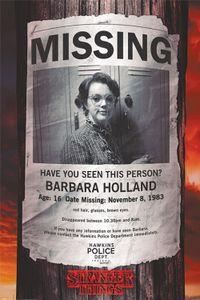 Stranger Things Poster - Missing Barb (91 x 61 cm)