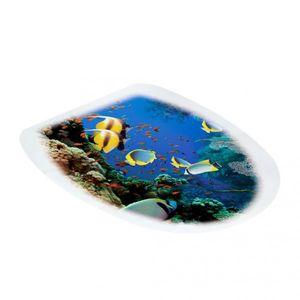 2x Aufkleber WC Toiletten Deckel für Toilettendeckel Unterwasserwelt 2