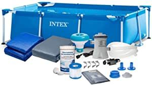 Intex 28272 300x200 cm 7in1 Rectangular PolBaby Pool Set mit Filterpumpe und Zubehör