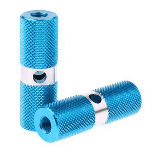 aluminiumlegierung zylinder bmx vorne hinterachse fußrasten fahrrad blau wie beschrieben
