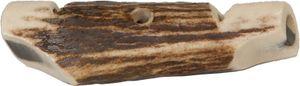 EUROHUNT Hundepfeife aus Hirschhorn, ca. 7cm lang, Hundezubehör, Hundetraining, Doppeltonpfeife