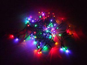 Weihnachts Lichterkette 40 LED - bunt