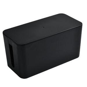 Kabel Management Box Kabel Organizer Lagerung Box, Kabel Linie Abdeckung Kabel Management Verlängerung Box Farbe Schwarz S.