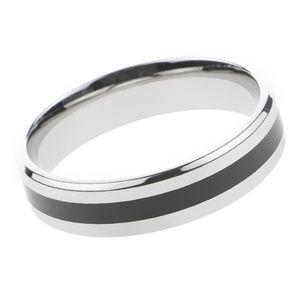 Fashion Titanium Edelstahl-Band-Ring-Schmucksachen Für Männer Schwarz Größe 9