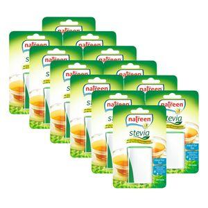 NATREEN Stevia 12 x 120er Minispender Süßstoff Tafelsüße Tischspender