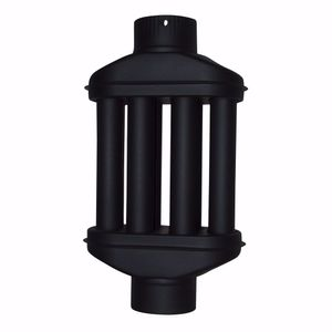 acerto® - Abgaswärmetauscher 120x550mm schwarz Energie sparen Leichte Reinigung Einfacher Einbau Warmlufttauscher Rauchgaskühler Kaminrohr Abgasrohr Ofenrohr für Öfen Kamine Holzkessel