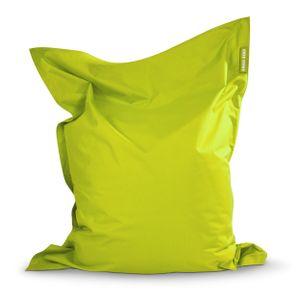 Green Bean © SQUARE XXL Riesensitzsack 140x180 cm - Indoor & Outdoor Sitzsack - Bean Bag Chair für Kinder & Erwachsene - Hellgrün