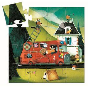 DJECO Formenpuzzle: The fire truck