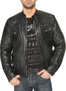 German Wear, Lederjacke Trend Fashion lammnappa echtleder Jacke Nappa Leder Schwarz, Größe:56/3XL