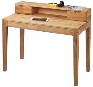 Sekretär Wildeiche - DEsign-Schreibtisch Wildeiche, Schubladen mit Softeinzug - (2244)