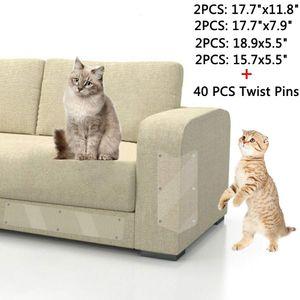 katzen Kratzschutz für Möbel 8 STK - Kratzmatte für Katzen - Kratzbrett Ecke - Transparent Selbstklebend Anti-Kratz-Pad