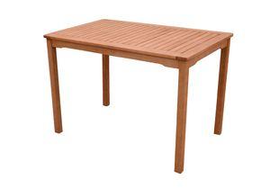 Gartentisch Eukalyptus Tisch Beistelltisch Balkontisch geölt massiv 70 x 110