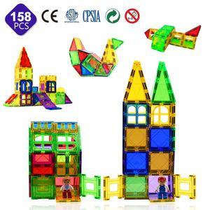 158tlg Kinder Magnetspielzeug Magnet Baukacheln 3D Magnetische Bausteine Set Lernspielzeug für Kinder Kinder