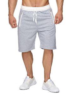 Herren Sweat Shorts Kurze Jogging Hose Bermuda Sporthose H1927, Farben:Hellgrau, Größe Shorts:XXL