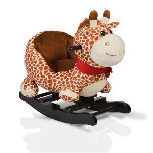 Plüsch Schaukeltier Giraffe WJ-635, Handgriffe aus Holz ab 12 Monate