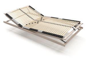 i-flair 7 Zonen Lattenrost 140x200 cm, 42 Leisten, Kopf- und Fussteil verstellbar