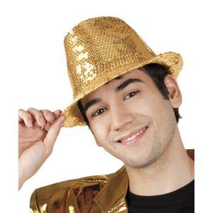 Popstar Hut Pailletten gold