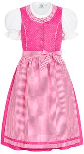 Kinderndirndl 3-teilig Lily in Pink von Isar-Trachten, Größe:140