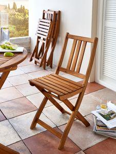 Balkonstuhl Gartenstuhl aus Akazienholz Klappstuhl  FARSO
