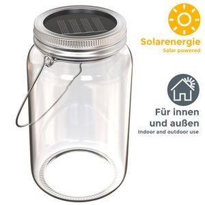 LED Solarglas Dämmerungssensor Solar Glasleuchte Sonnenlicht Terrasse Balkon Solar/Akkubetrieben Dekolicht IP44 B.K.Licht