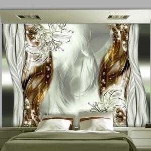 Basera Selbstklebende Fototapete Lilienmotiv a-A-0210-a-d, mit UV-Schutz, 343x245 cm