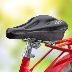 Eaxus® GEL Fahrrad Sattelbezug gepolstert 27 x 17 cm. Weicher, schmaler Sattelüberzug für Mountainbike, Rennrad, E-Bike, Heimtrainer. Gel-Pads Wasserdicht und Wetterbeständig