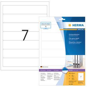 Ordneretiketten A4 weiß 192x38 mm Papier matt blickdicht 70 St.