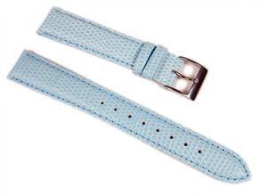 Casio Ersatzband Uhrenarmband Leder blau 17mm LWQ-140LE LWQ-140 LWQ-140DE