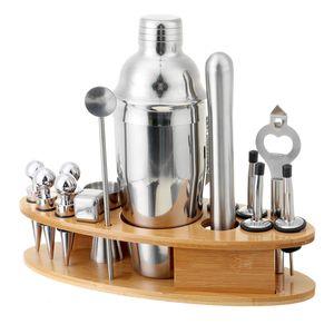 20 Stk Set Edelstahl Cocktail Shaker Set Cocktailset Mixer 750ml Bar Barkeeper