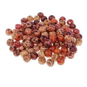 100er Rund Holzperlen zum Fädeln Holz Perlen Perle Beads Schmuck Basteln