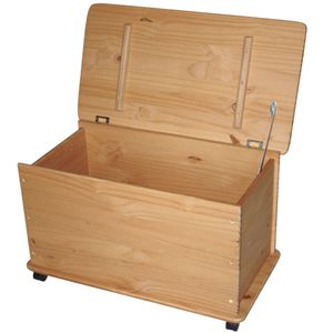 KMH® Holz Spielzeugkiste GELAUGT