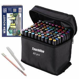 80 Farbige Graffiti Stift Fettige Mark Farben Marker Set,Twin Tip Textmarker Graffiti Pens fš¹r Sketch Marker Stifte Set Mit