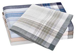 Tobeni 10 Stück Herren Stoff Taschentücher Herrentaschentücher Stofftaschentücher 100% gekämmte Baumwolle , Farbe:Design 24, Grösse:40 cm x 40 cm