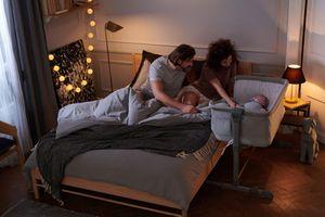 NESTE UP 3 in 1-Beistellbett von Kinderkraft graumelange