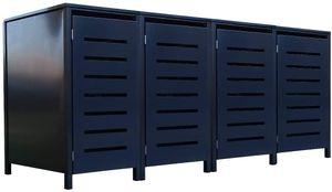 4 Tailor Mülltonnenboxen Basic für 240 Liter Tonne Stanzung 6 komplett Anthrazit