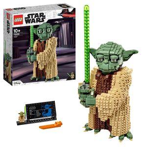 LEGO 75255 Star Wars Yoda Bauset, Sammlermodell mit Displayständer, Angriff der Klonkrieger, Bauset für Kinder und Erwachsene