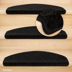 Metzker Stufenmatten Treppenmatten Fuerth Halbrund Schwarz 15 Stück