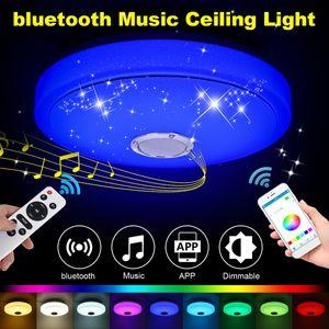 Elegant 60W RGB LED Musik Deckenleuchte bluetooth APP + Fernbedienung Küche Schlafzimmer Salon Deckenlamp