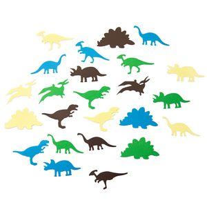 Oblique Unique Dino Konfetti 24 Stk. bunt Kinder Geburtstag Dinosaurier Tisch Deko Streudeko