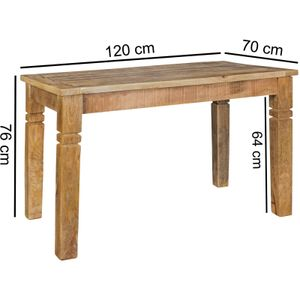 Esszimmertisch Rustica 120 x 70 x 76 cm Mango Massiv-Holz |