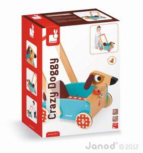 JANOD Lauflernwagen Crazy Doggy Holz Spielzeug Schiebewagen Lauflernhilfe