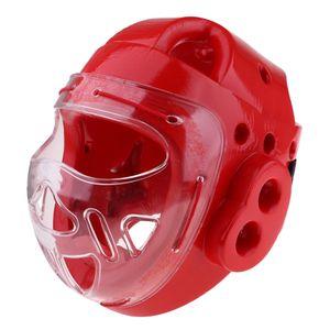Taekwondo Helmboxen Karate Head Guard Gear Gesichtsschutzmaske Rot XL Red XL wie beschrieben