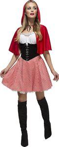 Fever - Damen Rotkäppchen-Kostüm - Kleid und Umhang mit Kapuze - Größe S