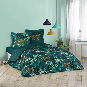 3tlg. Wende Bettwäsche 240x220 Baumwolle Übergröße Bettdecke Leopard Bettbezug