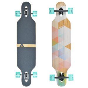 "Apollo Longboard ""Nauro"" Twin Tip DT Komplettboard 99,06 x 22,23 cm Holzdeck Cruiser-Board"